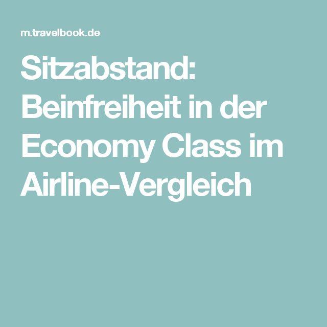 Sitzabstand: Beinfreiheit in der Economy Class im Airline-Vergleich