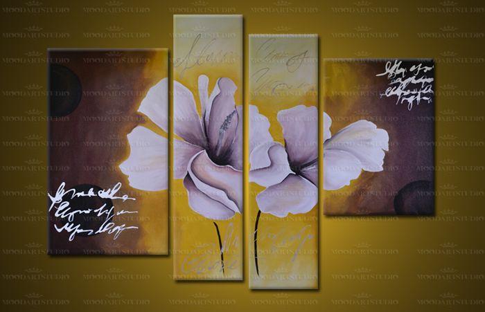 cuadro moderno flores abstractas de moodartstudio