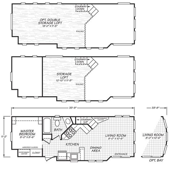 Floor Plans This Is A 399 Square Foot Luxurious Park Model Tiny House By Cavco Called