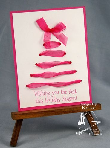Laced Card by KtsAngels - Cards and Paper Crafts at Splitcoaststampers. Wonder if I could do this as a heart? ... V
