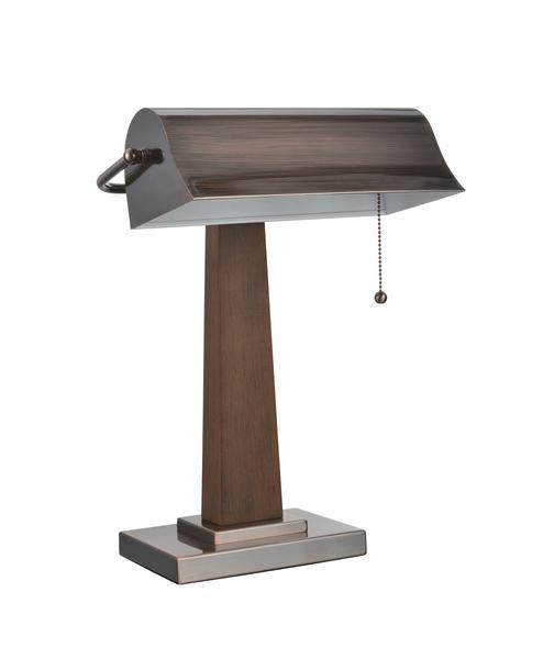 """Aspen Creative 40036 17"""" High x 12"""" Wide Piano Lamp in Autumn Red Copper with Wood accents"""