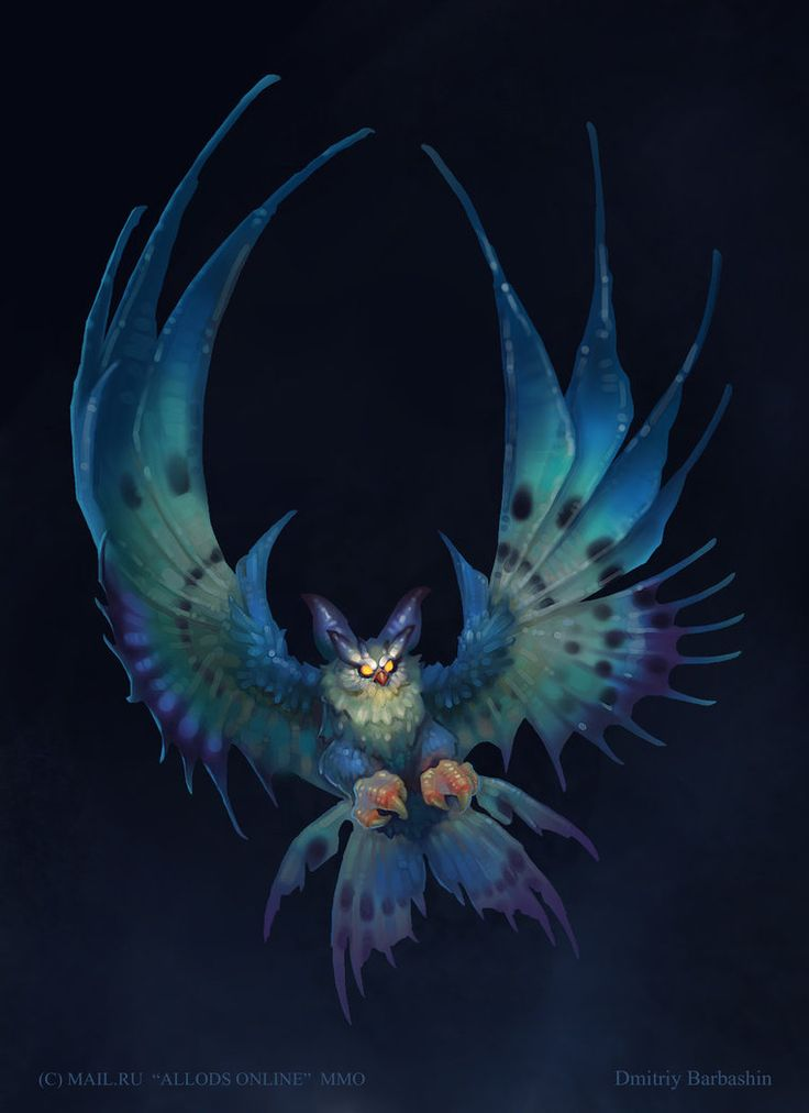 Umoir owl by dmitriybarbashin on deviantart creatures for Cool fantasy drawings