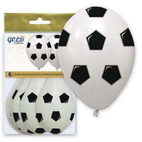 Bolsa con seis divertidos #globos #balón # ´fútbol para decorar #fiestasinfantiles de #cumpleaños  o la fiesta #comunión  o para #regalar junto a tus #detalles #globosfutbol #decorar #fiestastematicas #regalosinfantilesboda #regalosinfantilescomunion #regalosinfantilescumpleaños