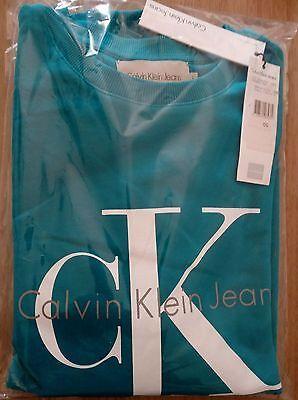 Felpa Uomo Calvin Klein Jeans colore Turchese taglia L Originale Alta Moda