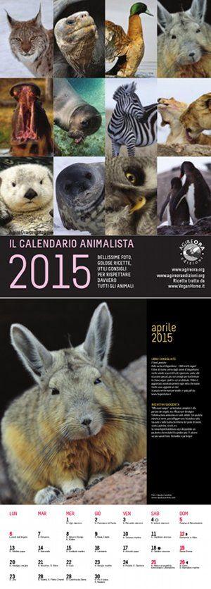 Calendario 2015 da parete AgireOra Edizioni http://www.agireoraedizioni.org/calendari-animali/calendario-da-parete/