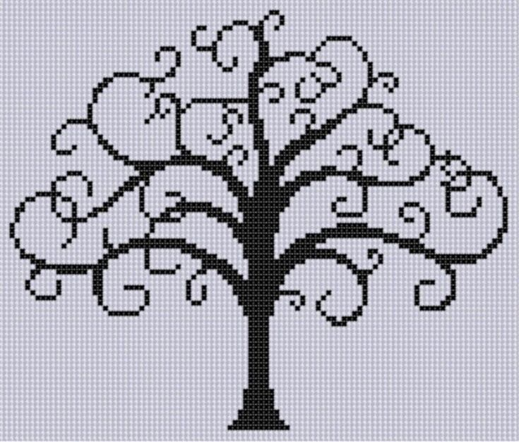 Tree of Life 2 Cross Stitch Pattern