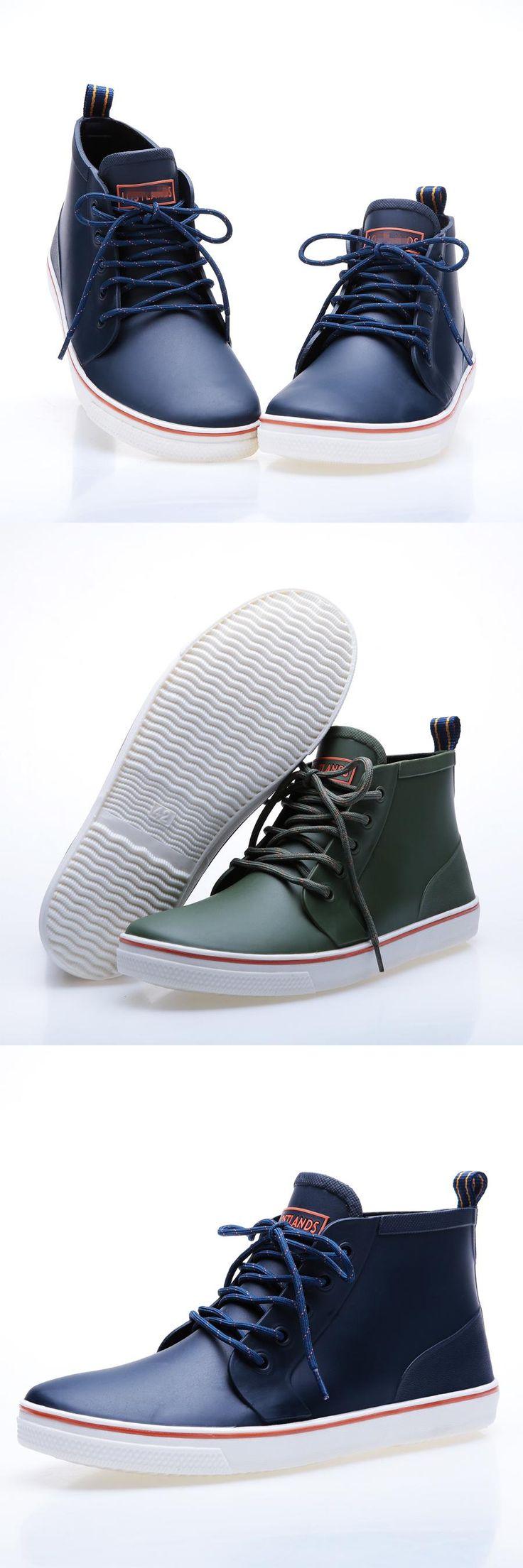 [Visit to Buy] Short Ankle Rain Boots Men Shoes Rubber Black Solid Unisex Soft Water Shoes Gummistiefel Rainboots Zapatillas Deportivas Hombre #Advertisement