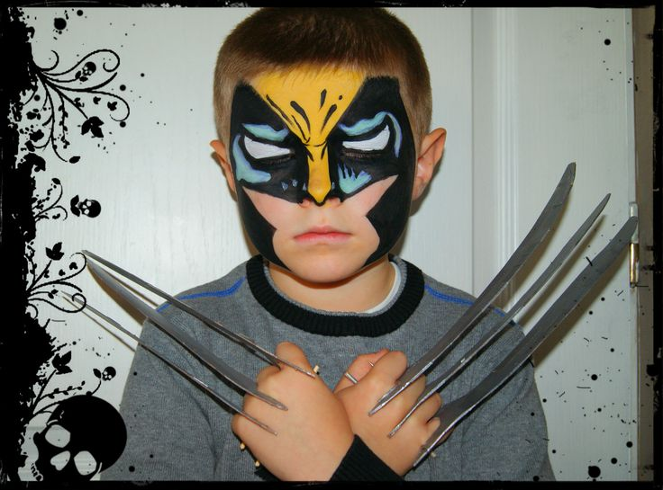 face painting wolverine