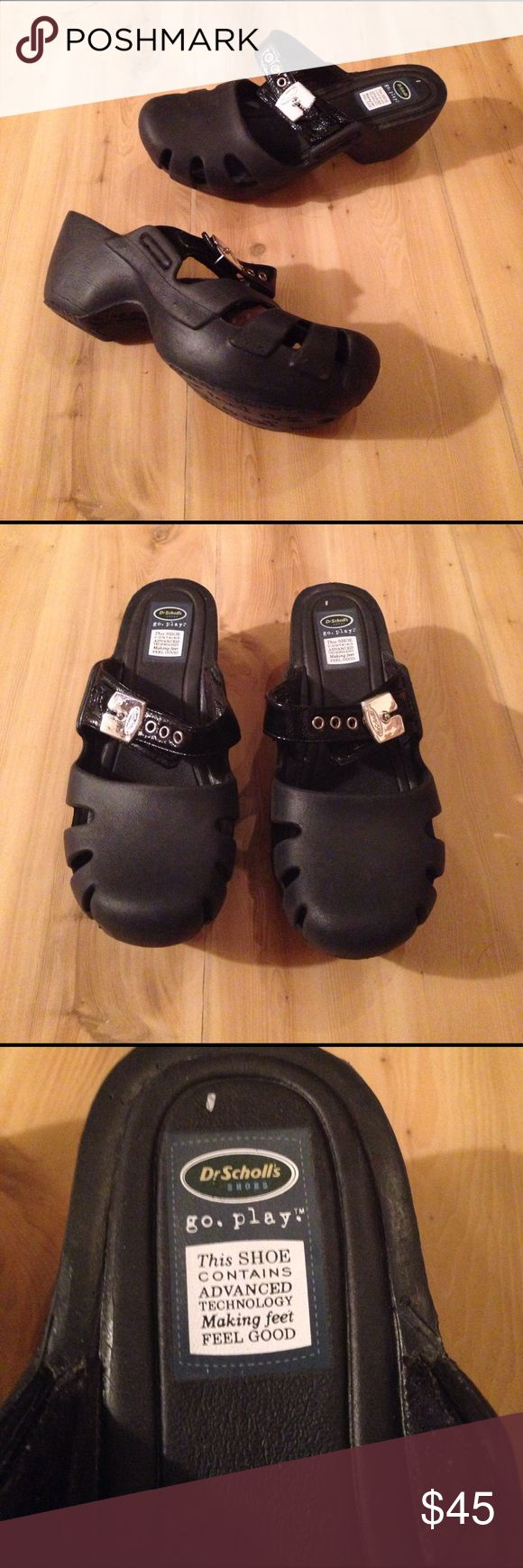 Dr. Scholl's Clogs Black breathable lifted clogs. Really good to great condition. Size 7 M Dr. Scholl's Shoes Mules & Clogs