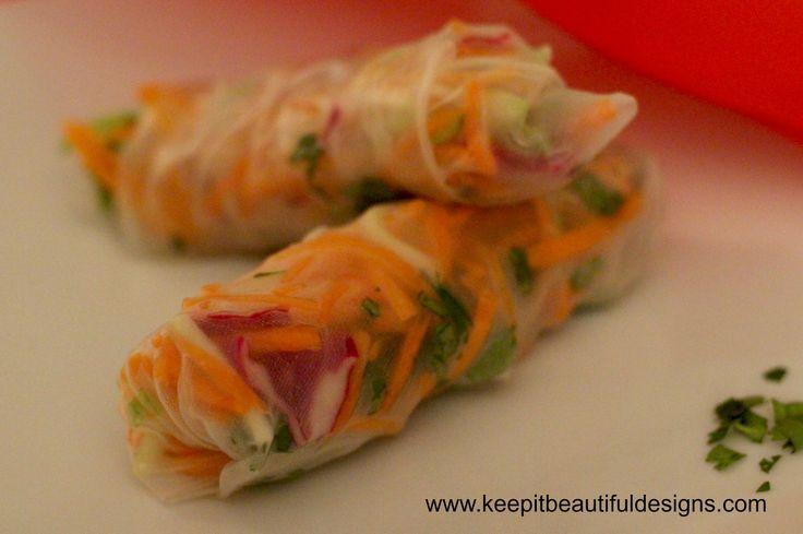 Yummy Vietnamese Summer Rolls #bluedragonmom