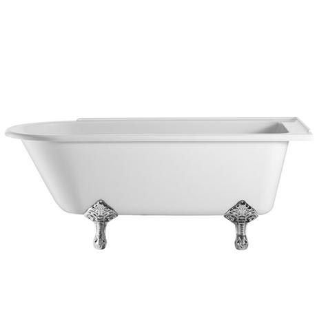 Burlington - Hampton 1700mm Showering Bath with Legs - Right Hand Option