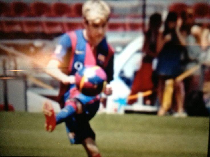 Football in FC Barcelona, Spain on July, 2014!