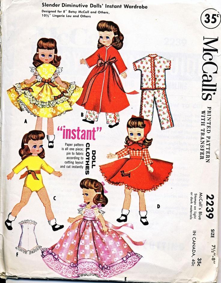 Google Image Result for http://image0-rubylane.s3.amazonaws.com/shops/barbgrrlzdolls/1111II.1L.jpgMccall Dolls, Dolls Pattern, Sewing Pattern, Betsy Mccall, Vintage Sewing, Dolls Clothing Pattern, Dolls Sewing, Betsy Mcall, Clothing Sewing