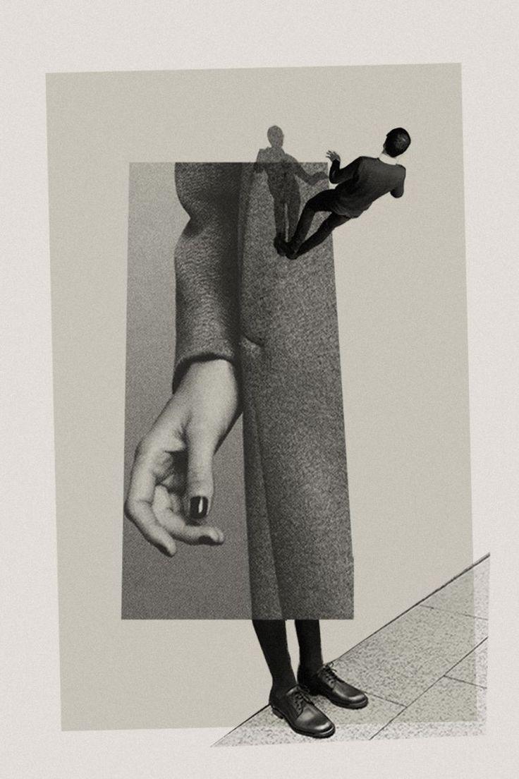 Collage, échelle, corps