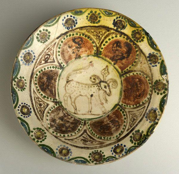 "Slip Painted Bowl - ADC.62 Origin: Central Asia Dimensions: 11.69"" (29.7cm) high x 3.54"" (9.0cm) wide Collection: Islamic Art Medium: Ea..."