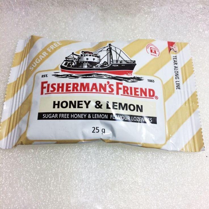 HONEY LEMON Fisherman's Friend  Flavor Sugar Free Lozenges zipper bag 25g #FishermansFriend