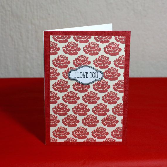 To My Love Art Roses Greeting Card by HoneysDead on Etsy