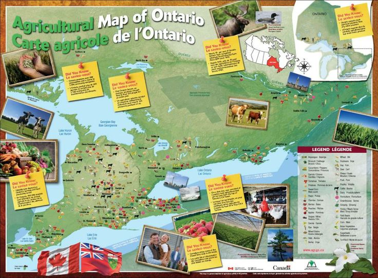 Map of Ontario | Agricultural Map of Ontario