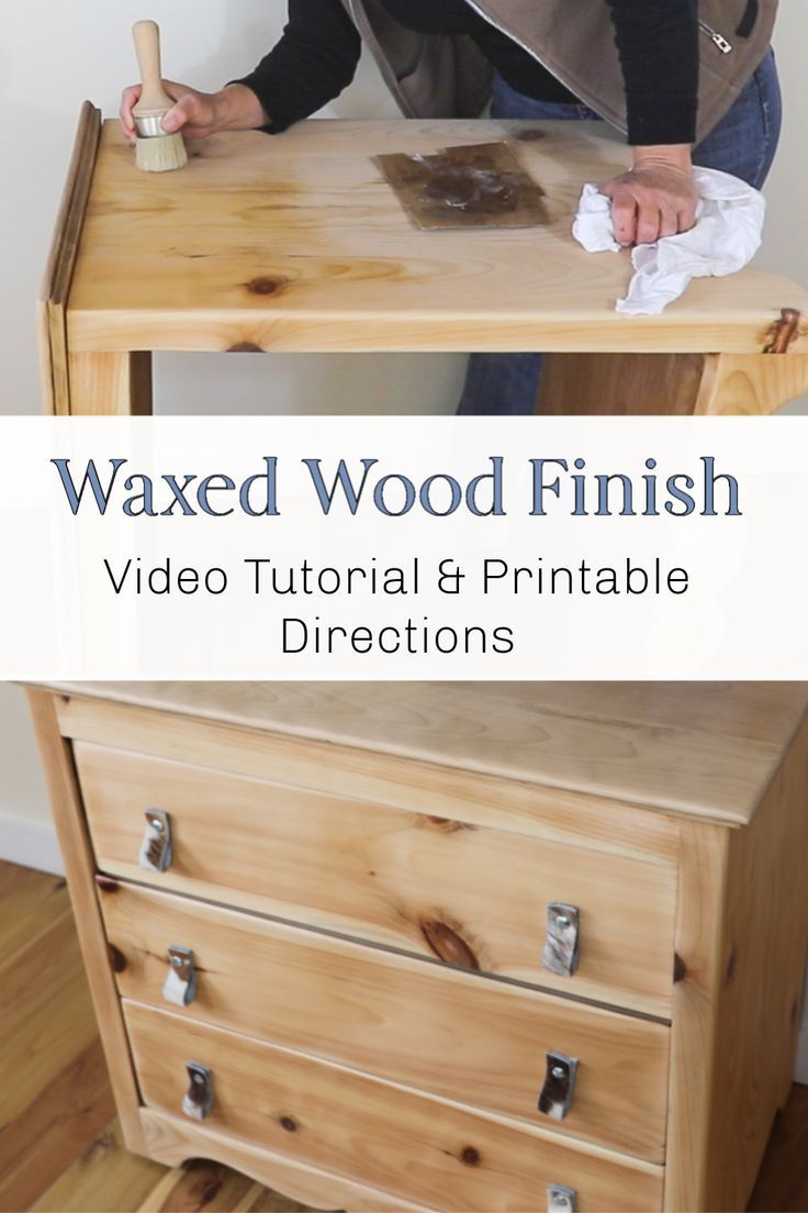 Wood Wax Finish Diy In 2020 Raw Furniture