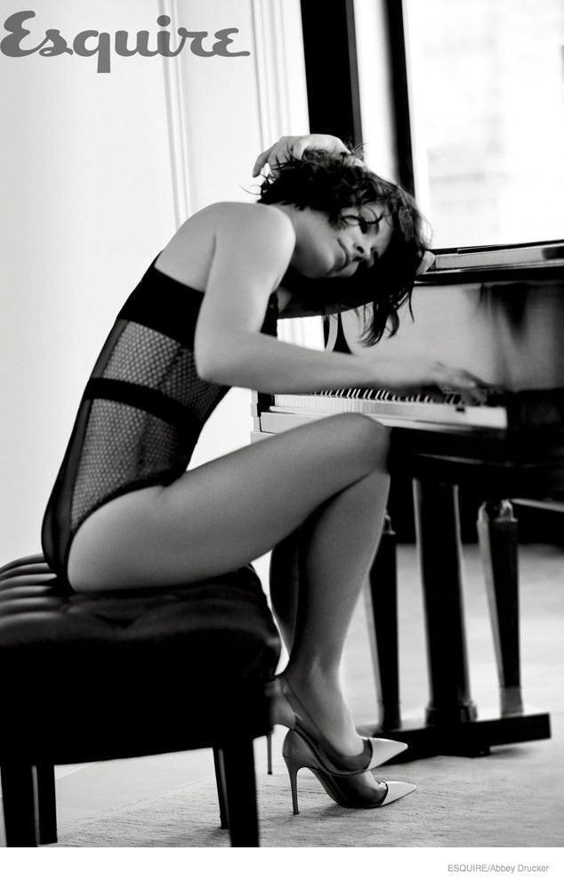 Evangeline Lilly strips down to sexy lingerie looks for the January/February 2015 edition of Esquire Magazine