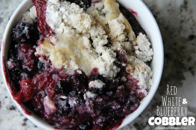 Red, White and Blueberry Cobbler for your July 4th celebration (or for any day...it's so good!).