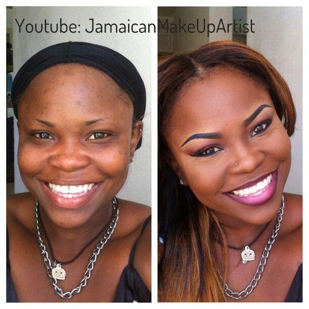 Jamaican Makeup Artist Before And After - Mugeek Vidalondon
