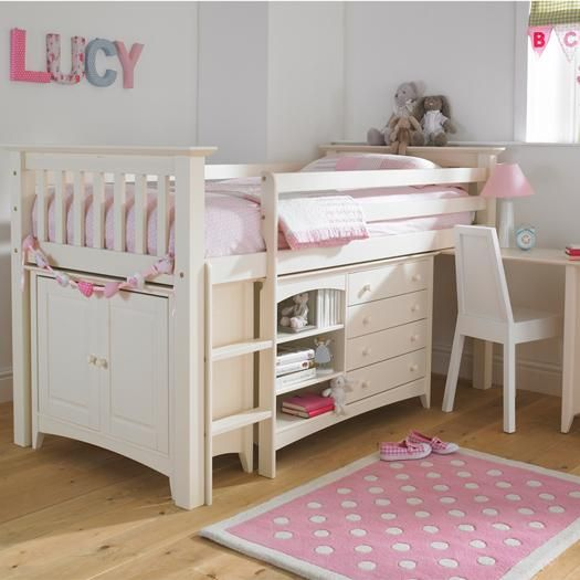 Luxury Kids Cabin Bed in Cream Bun. Other colours available. See our website for more details. Beds, childrens beds, childrens bedrooms, bedrooms, interiors, decor, british, home.