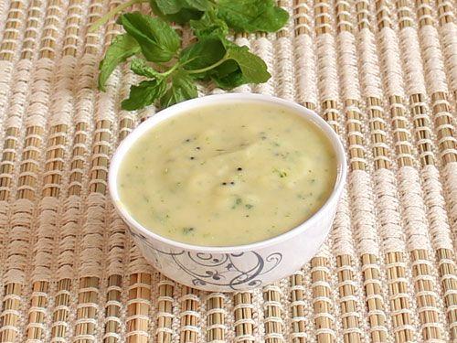 Gram Flour Chutney (Kadhi) For Fafda - Fafda Chutney