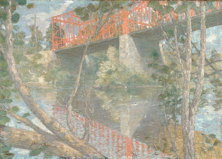 """/""""The Red Bridge/"""" — Giclee Fine Art Print 1895 Julian Alden Weir"""