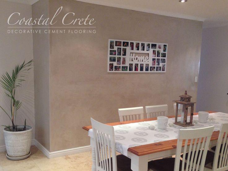 Coastal Crete Flooring | Cinnamon Colour Wall Plaster | Decorative Wall Finish