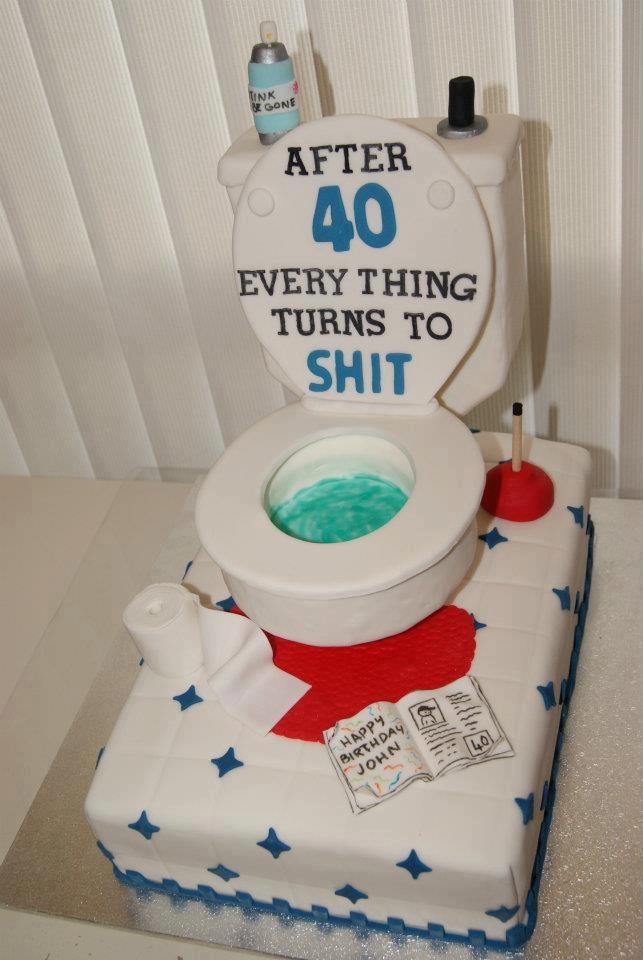 Pin Toilet Birthday Cake By Bakemeacakeandmore