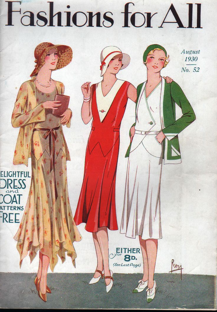 RARE Vtg 1930 Sewing Pattern Book Fashions for All Dress Pattern U K | eBay