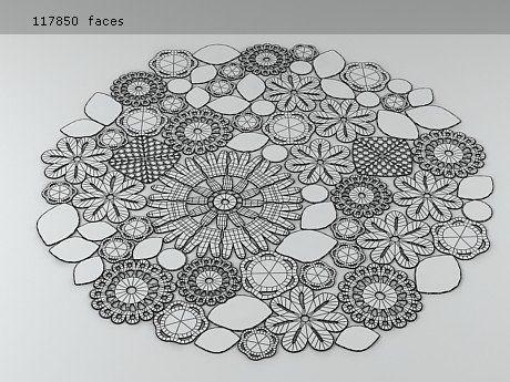 Paola Lenti Crochet Round 3d model | Paola Lenti