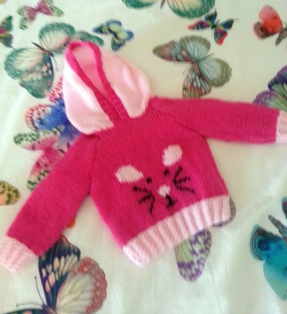 Child's Mouse Sweater Knitting Pattern Hoodie by iKnitDesigns