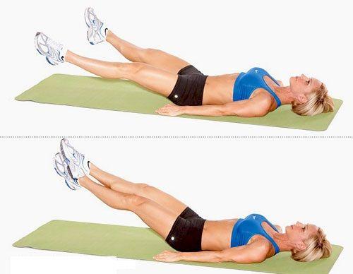 Упражнение Ножницы | Тренировки мышц живота, Упражнения ...
