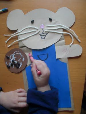 If you Give a Mouse a Cookie paper bag puppet from sylvan