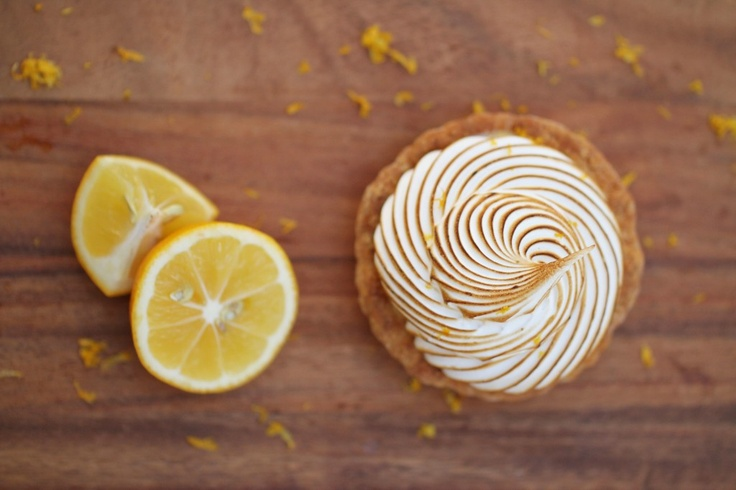 Meyer Lemon Meringue Tart www.sweetcharllote.com #organic #rustic # ...