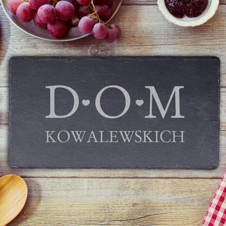 Personalizowany plater z łupka DOM