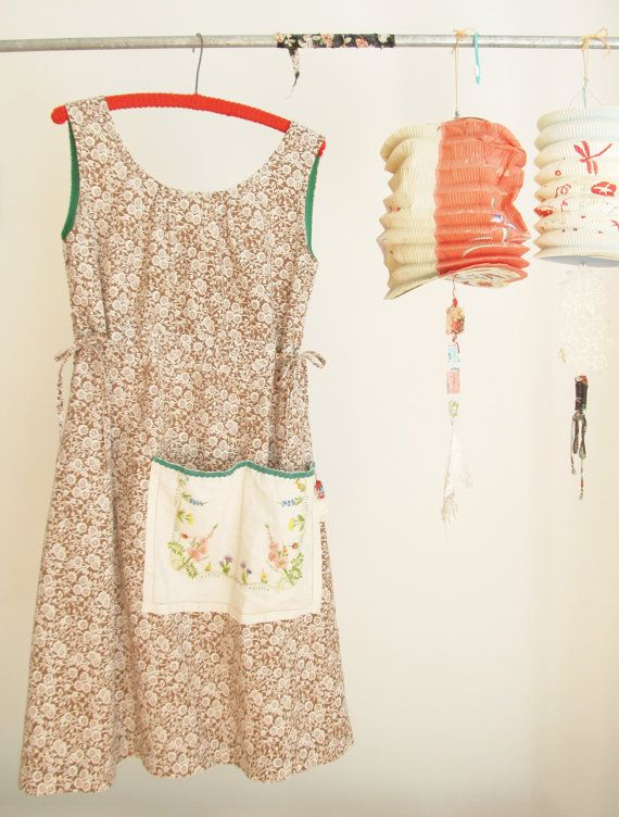 a dottie angel original sunfrock ... brown and white florals via Etsy