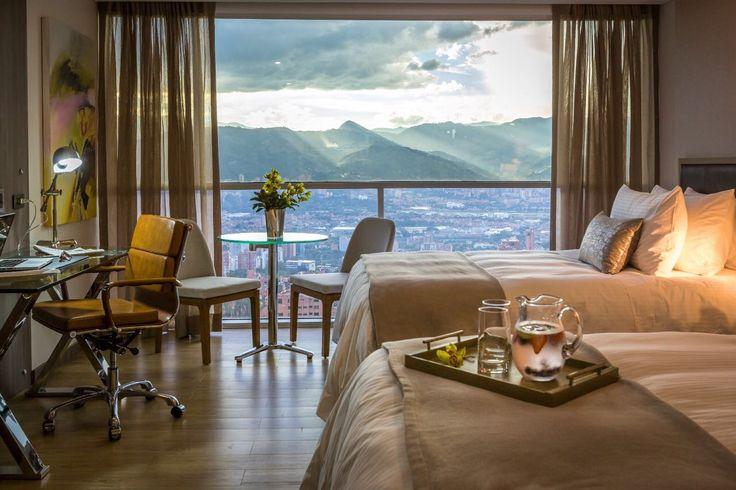 Habitación Twin Deluxe, con vista hacia Medellín