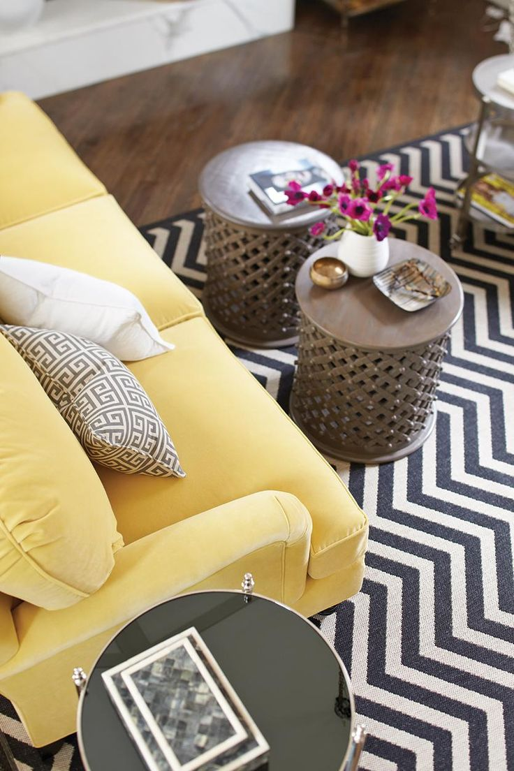 Ground your space with a geometric rug