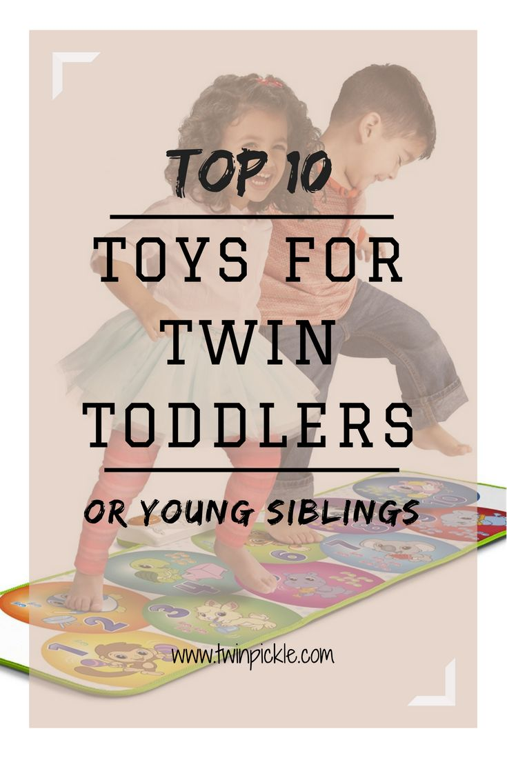 Unisex toys for twin toddlers and young siblings. Help twins share. Gifts for twins. Presents for toddlers. One-year-old twin toys. 2yr old toys. 3yr old. #twins #twinning #twinmom #gifts