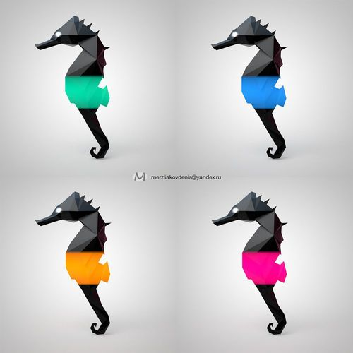 seahorse   3D Print Model