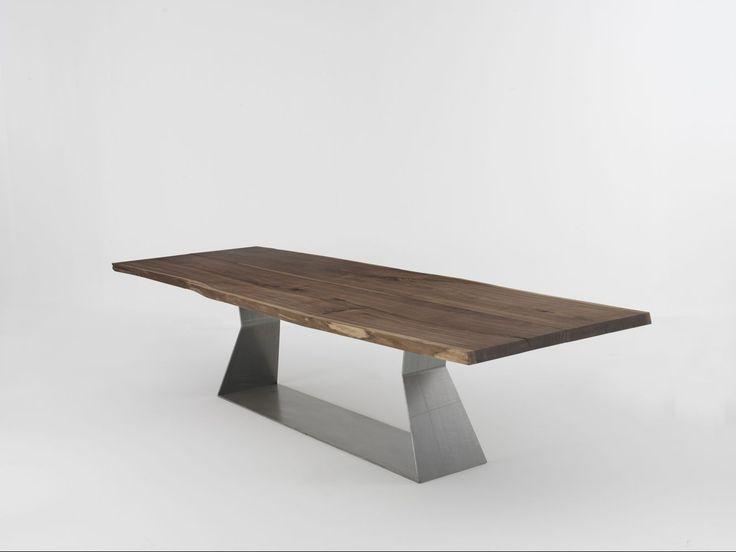 Esstisch massiv modern  Die besten 25+ Holztisch nussbaum massiv Ideen auf Pinterest ...