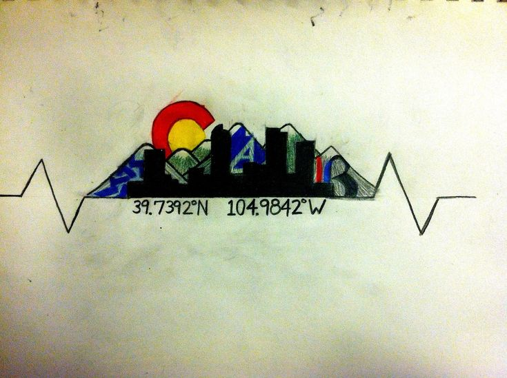milehightillidie:  My new tattoo idea. I already have the skyline and the EKG heartbeats tattooed on my forearm, but the skyline isn't black...