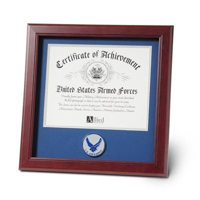 Air Force Certificate Frame with Aim High Medallion