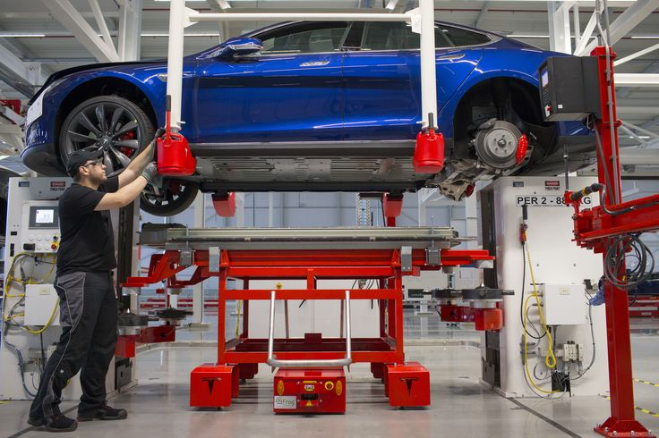 Inside a Tesla factory