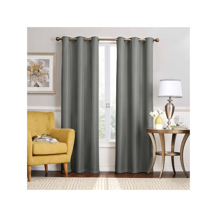 eclipse Nikki Thermaback Blackout Curtain, Grey Other