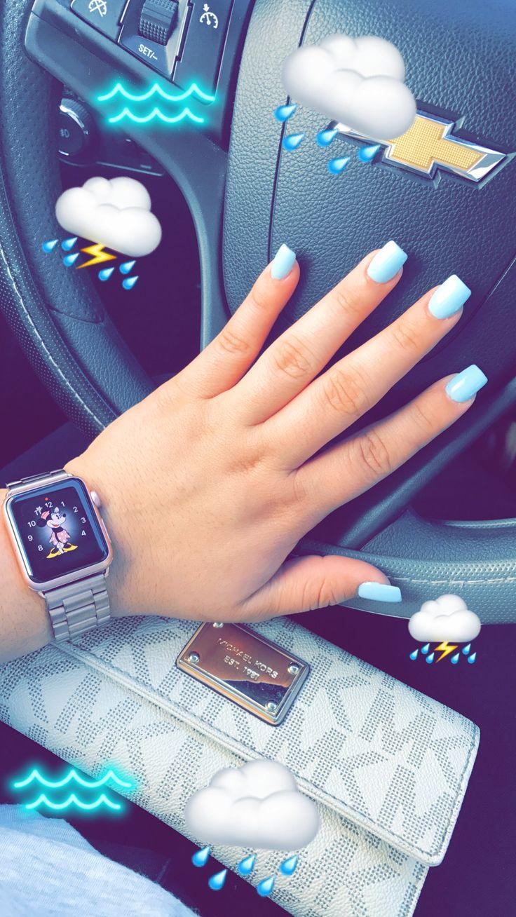 Baby Blue Nails Acrylic Nails Sqaured Nails Color