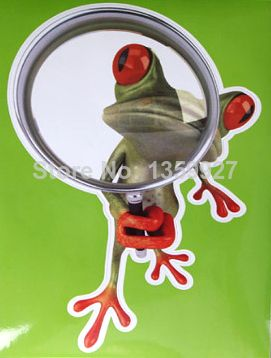 Зніжка 10% Funny cartoon frog gecko car stickers personality magnifying glass  $2.50